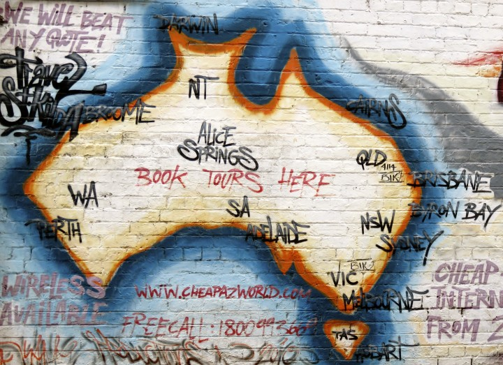 Melbourne insolite street art Australia map