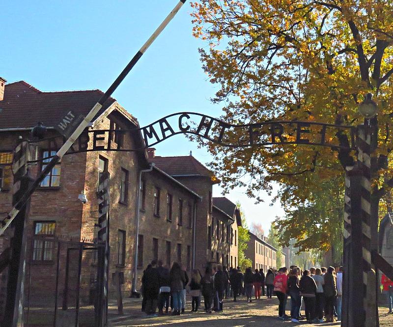 Entrée d'Auschwitz