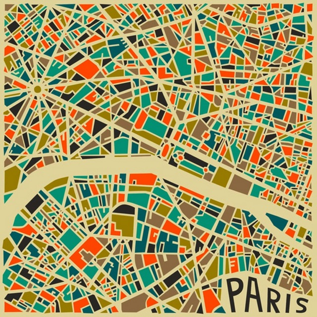 Jazzberry-Blue-Paris-Modern-Abstract-City-Map
