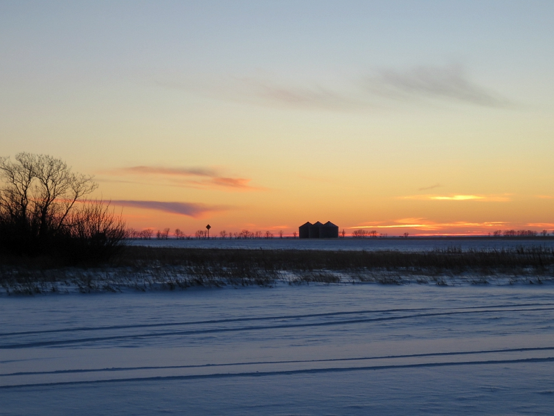 Sunset Highway 75 Manitoba