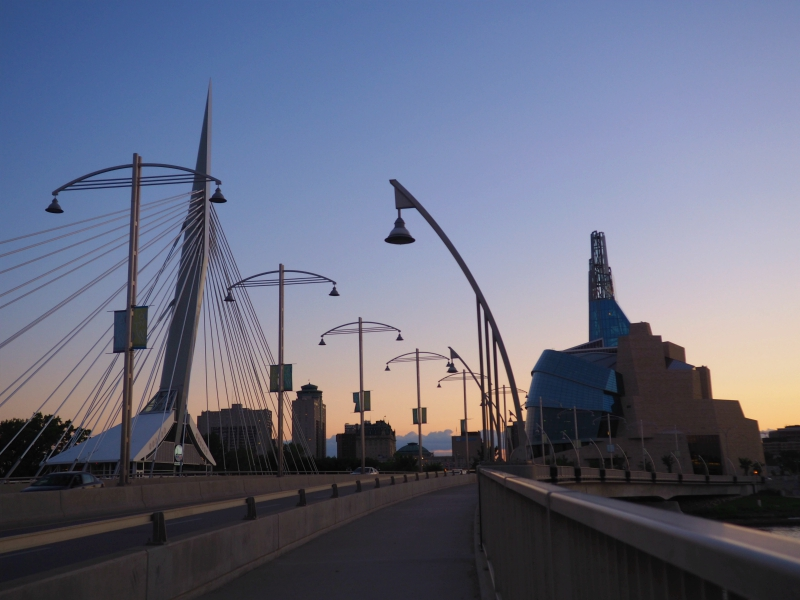 Winnipeg Provencher Bridge Sunset