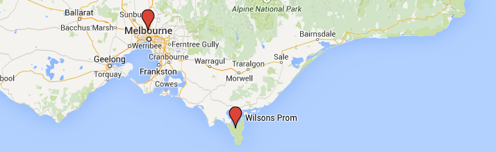 Melbourne-Wilsons-Prom-map