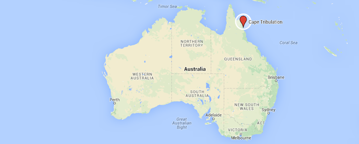 Cape-Tribulation-on-Australia-map