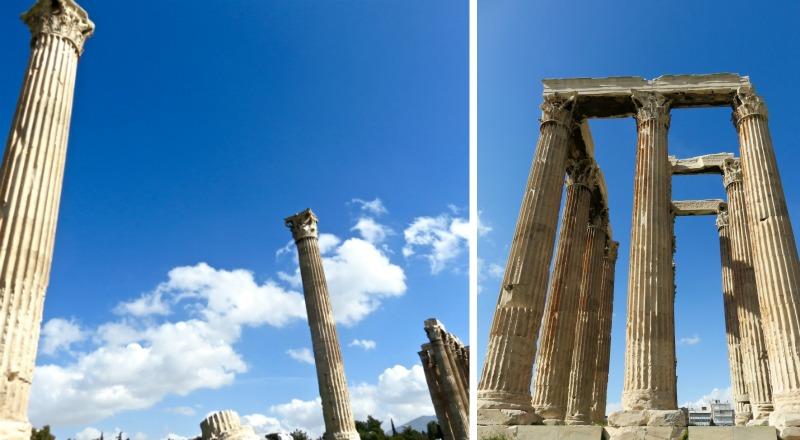 Temple Zeus Olympien Athènes