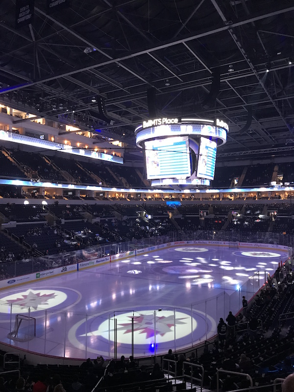 Jets game Winnipeg MTS Center