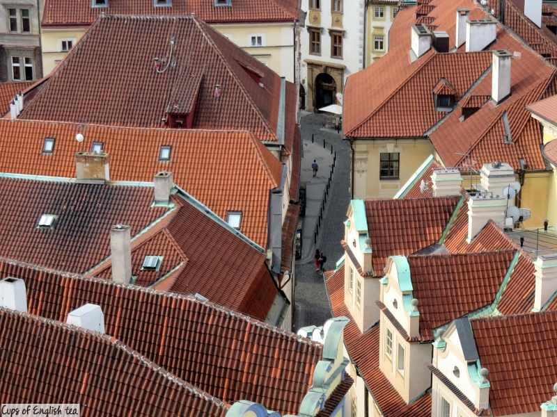 Prague roofs from Clock tower