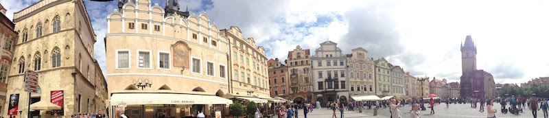Old Town Square Prague panorama