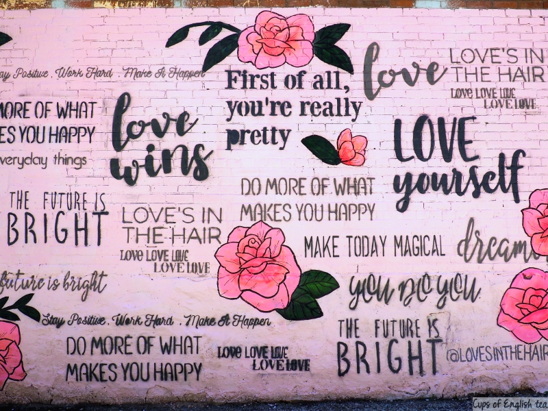 Love yourself mural